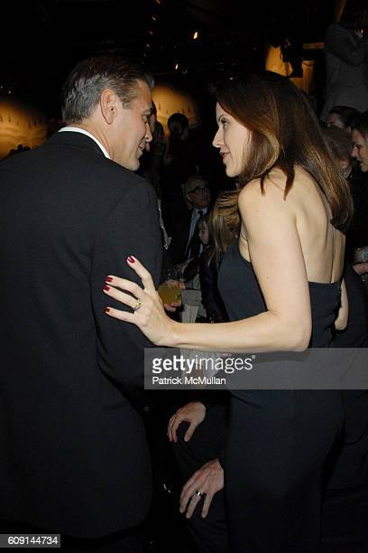 George Clooney and Kelly Preston attend GIORGIO ARMANI Prive in Los Angeles at Private Residence on February 24 2007 in Beverly Hills CA