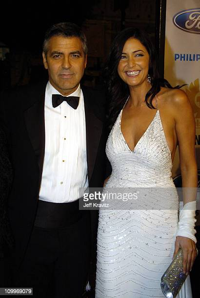 George Clooney and Lisa Snowdon during Ocean's Twelve Los Angeles Premiere Arrivals at Grauman's Chineese Theater in Los Angeles California United...