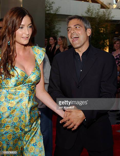 George Clooney and Lisa Snowdon during The Bourne Supremacy World Premiere Arrivals at ArcLight Cinerama Dome in Hollywood California United States