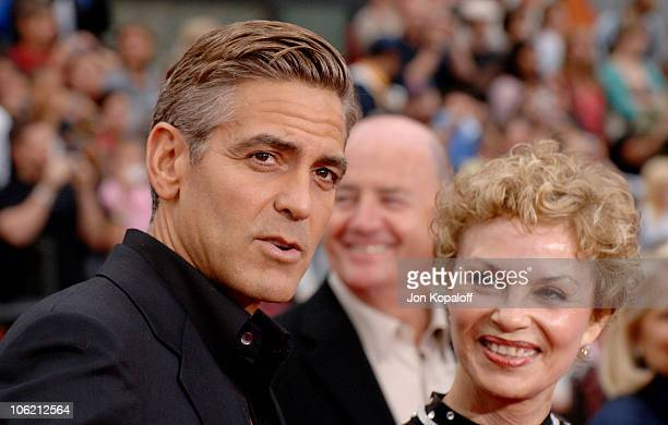 George Clooney and mom during Ocean's Thirteen Los Angeles Premiere Arrivals at Grauman's Chinese Theater in Hollywood California United States