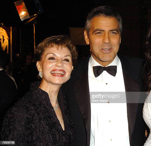 George Clooney and mother Nina Warren Clooney at the Grauman's Chinese in Hollywood California