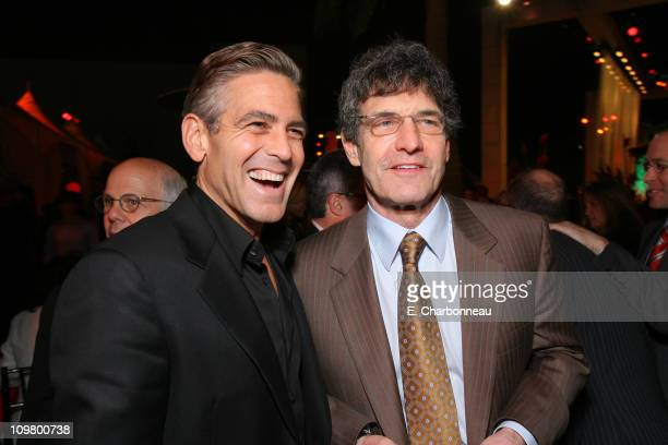 George Clooney and Warner Bros's Alan Horn during Warner Bros Pictures Village Roadshow Pictures Jerry Weintraub and Section 8 Productions Host the...