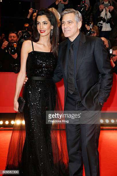 George Clooney and wife Amal Clooney attend the 'Hail Caesar' premiere during the 66th Berlinale International Film Festival Berlin at Berlinale...