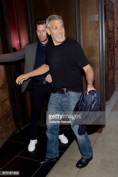 George Clooney arrives at the Casamigos House of Friends Dinner on June 8 2018 in Hollywood California