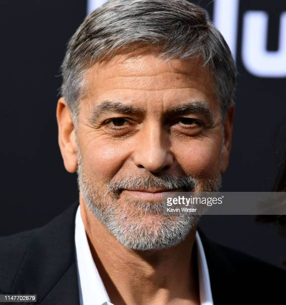 "George Clooney arrives at the premiere of Hulu's ""Catch-22 at TCL Chinese Theatre on May 07, 2019 in Hollywood, California."