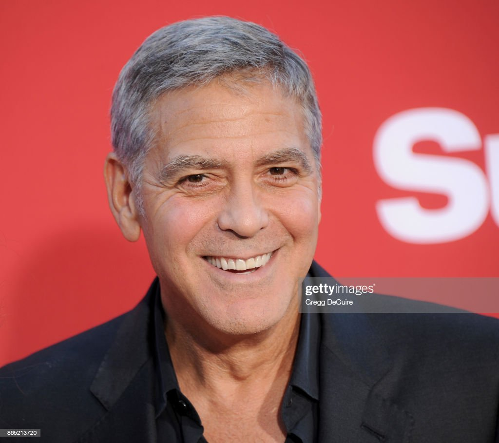 George Clooney arrives at the premiere of Paramount Pictures' 'Suburbicon' at Regency Village Theatre on October 22, 2017 in Westwood, California.