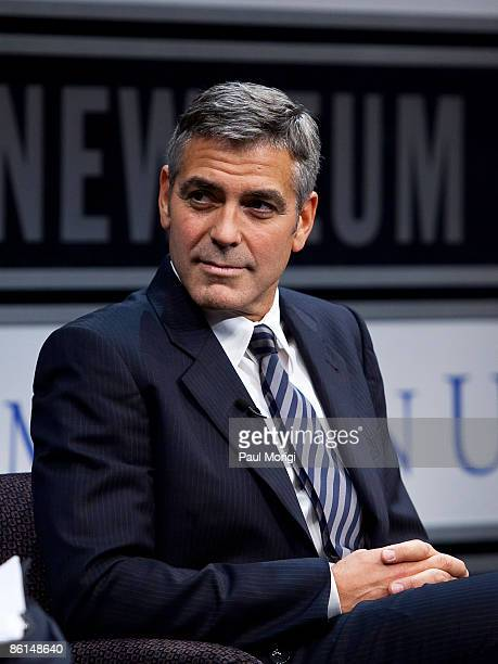 George Clooney at a screening of Good Night And Good Luck at The Newseum on January 26 2009 in Washington DC