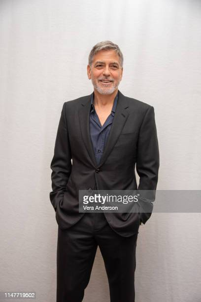 "George Clooney at the ""Catch 22"" Press Conference at the Four Seasons Hotel on May 07, 2019 in Beverly Hills, California."