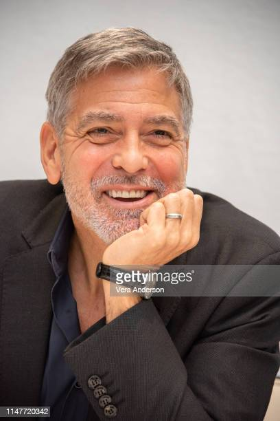 """George Clooney at the """"Catch 22"""" Press Conference at the Four Seasons Hotel on May 07, 2019 in Beverly Hills, California."""