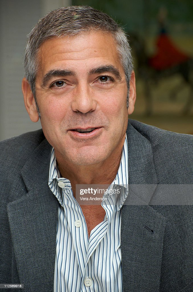 George Clooney at 'The Men Who Stare At Goats' press conference at the Dorchester Hotel on October 14, 2009 in London, England.