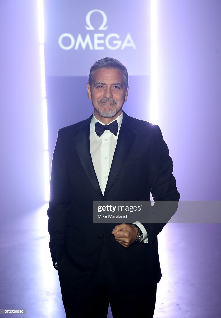 George Clooney at the OMEGA 'Lost In Space' dinner to celebrate the 60th anniversary of the OMEGA Speedmaster, which has been worn by every piloted NASA mission since 1965, at Tate Modern on April 26, 2017 in London, England.