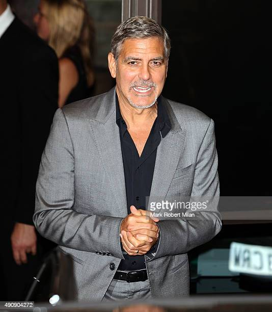 George Clooney attending the Cindy Crawford 'Becoming' book launch and Casamigos Tequila launch party afterparty on October 1 2015 in London England
