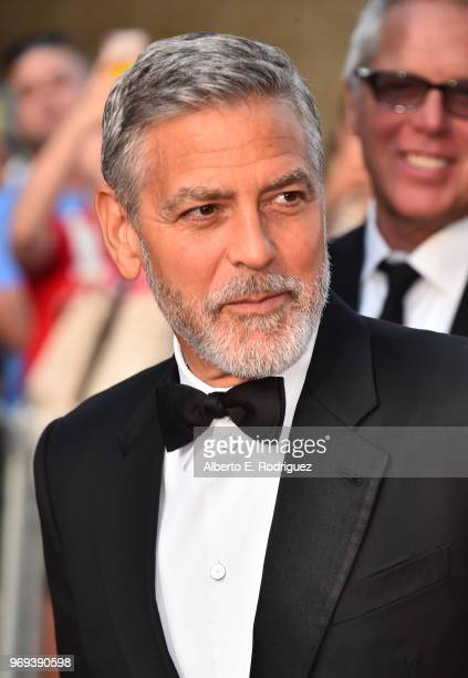 George Clooney attends American Film Institute's 46th Life Achievement Award Gala Tribute to George Clooney at Dolby Theatre on June 7 2018 in...