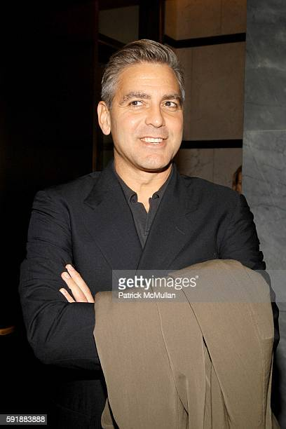 George Clooney attends Council on Foreign Relations New York Screening of Good Night and Good Luck at The Museum of Television and Radio on October...