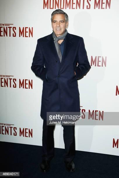 George Clooney attends 'Monuments Men' Paris premiere at Cinema UGC Normandie on February 12, 2014 in Paris, France.