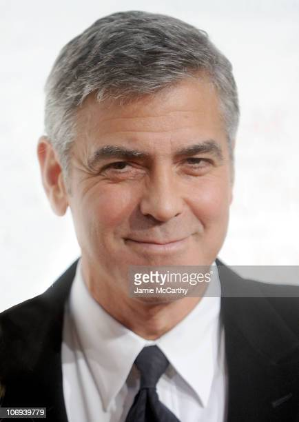 George Clooney attends the 2010 Robert F Kennedy Center for Justice Human Rights Ripple of Hope Awards Dinner at Pier Sixty at Chelsea Piers on...