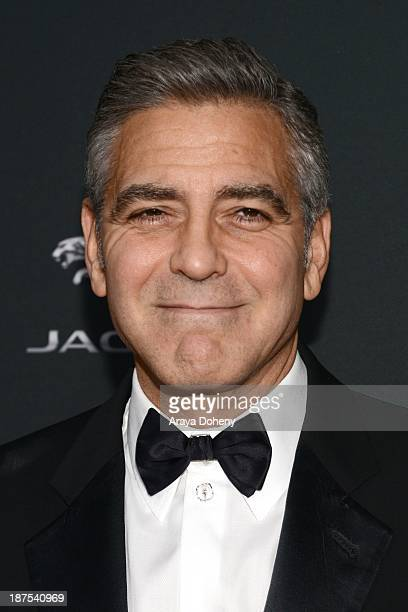 George Clooney attends the 2013 BAFTA LA Jaguar Britannia Awards presented by BBC America at The Beverly Hilton Hotel on November 9, 2013 in Beverly...