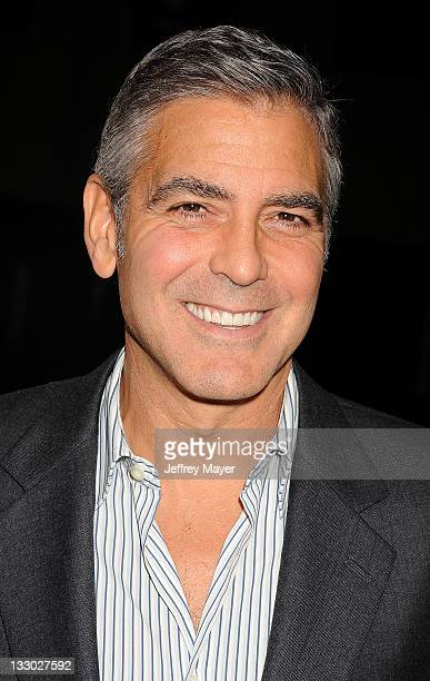 """George Clooney attends """"The Descendants"""" Los Angeles Premiere at AMPAS Samuel Goldwyn Theater on November 15, 2011 in Beverly Hills, California."""