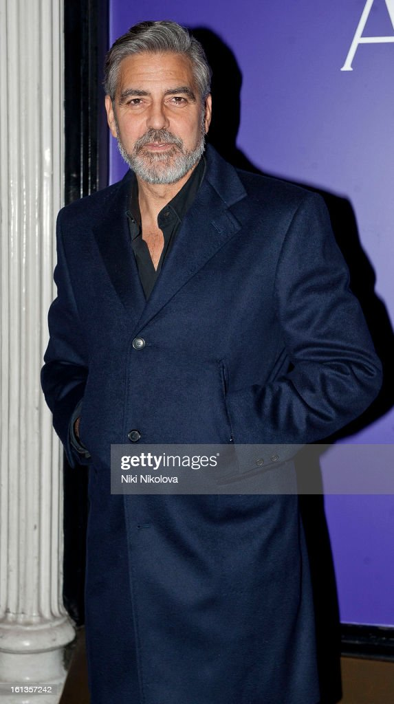 George Clooney attends The EE British Academy Film Awards Nominees Party at Asprey on February 9, 2013 in London, England.