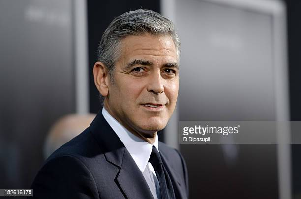 George Clooney attends the 'Gravity' New York premiere at AMC Lincoln Square Theater on October 1 2013 in New York City