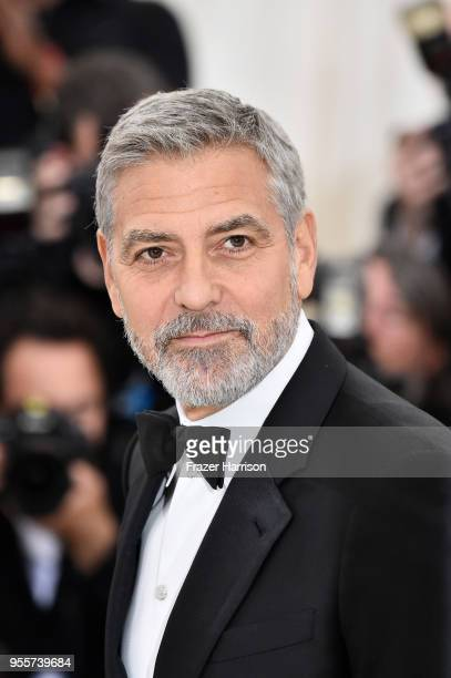 George Clooney attends the Heavenly Bodies Fashion The Catholic Imagination Costume Institute Gala at The Metropolitan Museum of Art on May 7 2018 in...
