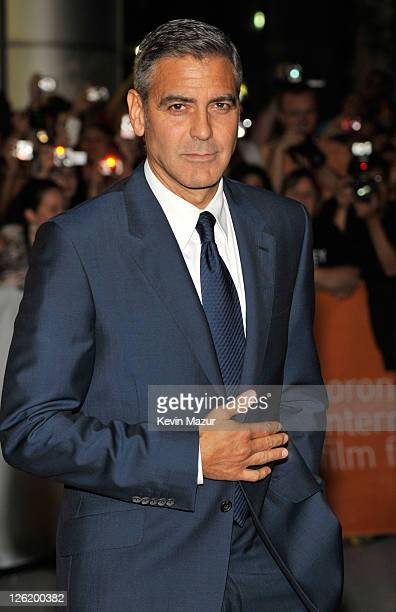 George Clooney attends 'The Ides Of March' premiere at Roy Thomson Hall during the 2011 Toronto International Film Festival on September 9 2011 in...