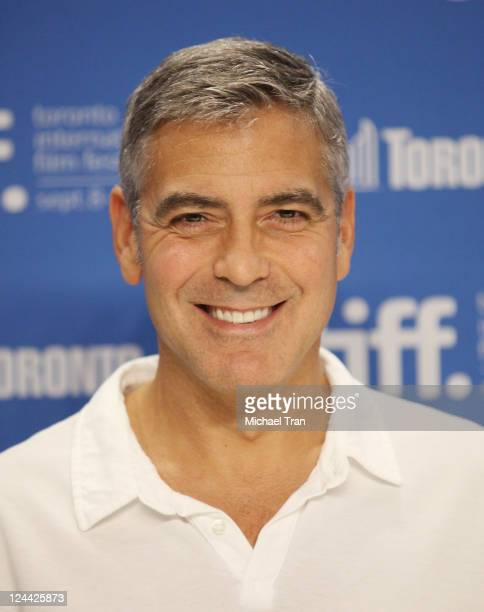 George Clooney attends The Ides Of March press conference during the 2011 Toronto Film Festival held at TIFF Bell Lightbox on September 9 2011 in...