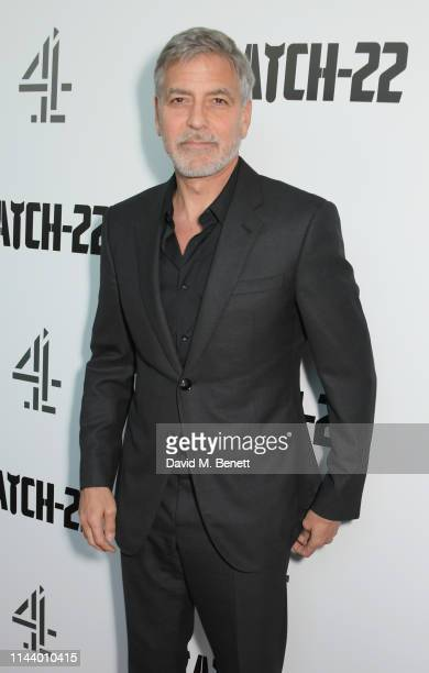 """George Clooney attends the London Premiere of new Channel 4 show """"Catch-22"""", based on Joseph Heller's novel of the same name, at Vue Westfield on May..."""