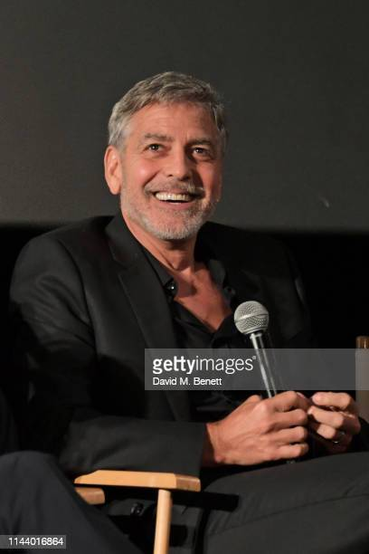"George Clooney attends the London Premiere of new Channel 4 show ""Catch-22"", based on Joseph Heller's novel of the same name, at Vue Westfield on May..."