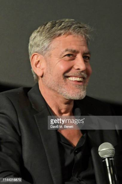 George Clooney attends the London Premiere of new Channel 4 show Catch22 based on Joseph Heller's novel of the same name at Vue Westfield on May 15...