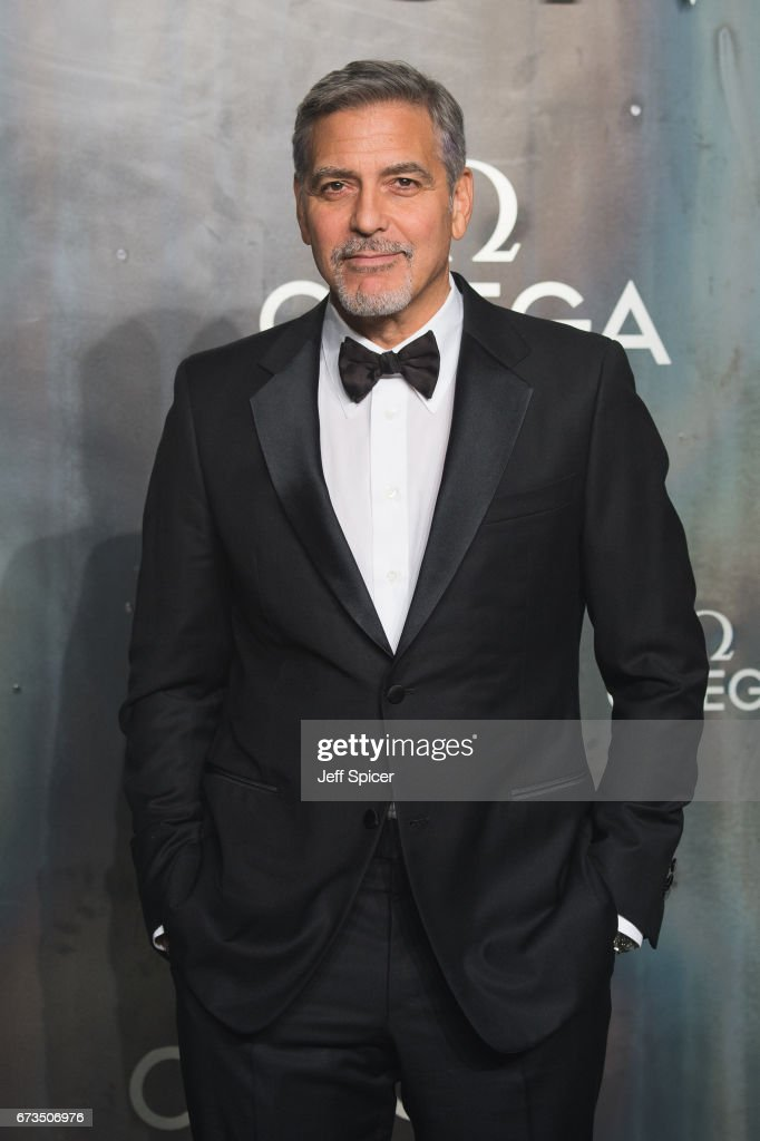 George Clooney attends the Lost In Space event to celebrate the 60th anniversary of the OMEGA Speedmaster, which has been worn by every piloted NASA mission since 1965 at Tate Modern on April 26, 2017 in London, United Kingdom.