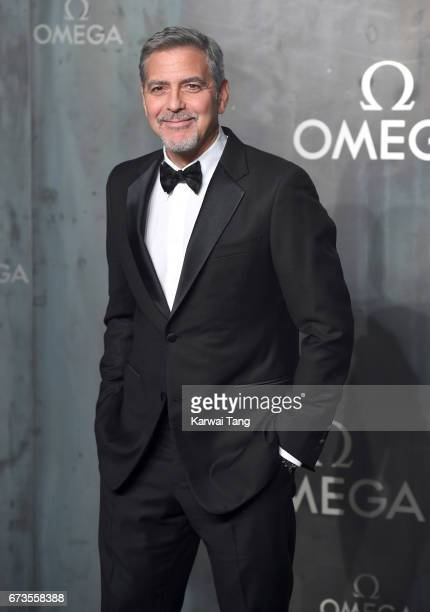 George Clooney attends the Lost In Space event to celebrate the 60th anniversary of the OMEGA Speedmaster at the Tate Modern on April 26 2017 in...