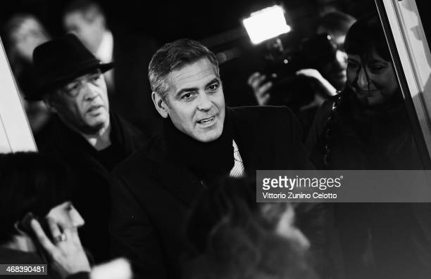 George Clooney attends 'The Monuments Men' Milan Premiere on February 10, 2014 in Milan, Italy.