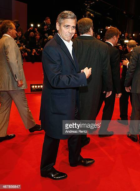 George Clooney attends 'The Monuments Men' premiere during 64th Berlinale International Film Festival at Berlinale Palast on February 8, 2014 in...