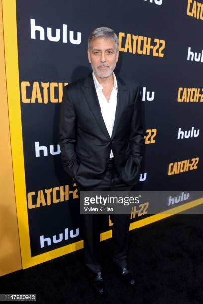 "George Clooney attends the premiere of Hulu's ""Catch-22"" on May 07, 2019 in Hollywood, California."