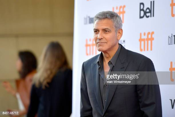 George Clooney attends the premiere of 'Suburbicon' during the 2017 Toronto International Film Festival at Princess of Wales on September 9 2017 in...