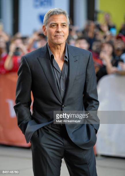 "George Clooney attends the premiere of ""Suburbicon"" during the 2017 Toronto International Film Festival at Princess of Wales on September 9, 2017 in..."