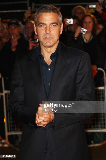 George Clooney attends the premiere of The Men Who Stare at Goats during the The Times BFI London Film Festival held at The Odeon Leicester Square on...