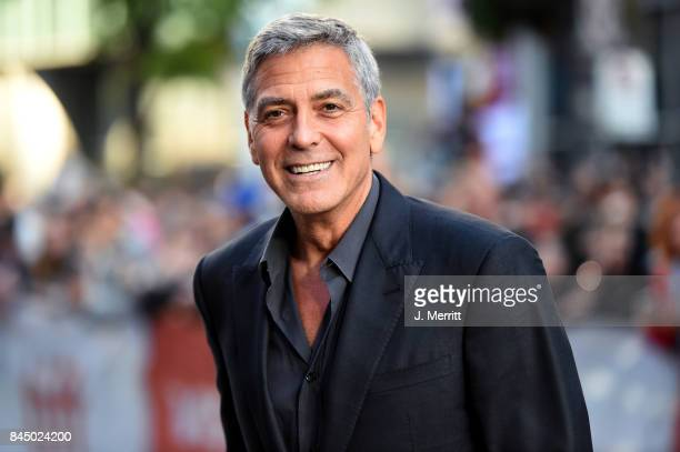 George Clooney attends the Suburbicon premiere during the 2017 Toronto International Film Festival at Princess of Wales Theatre on September 9 2017...