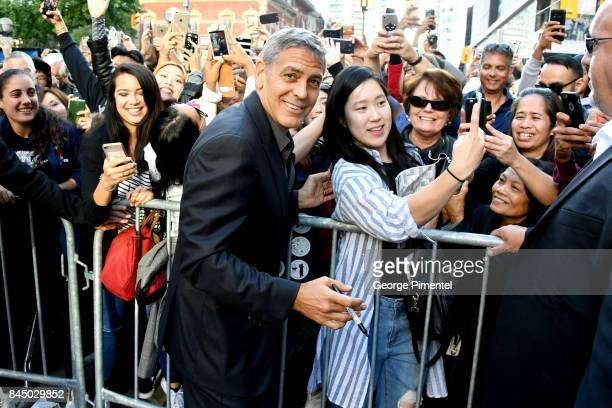 George Clooney attends the 'Suburbicon' premiere during the 2017 Toronto International Film Festival at Princess of Wales Theatre on September 9 2017...