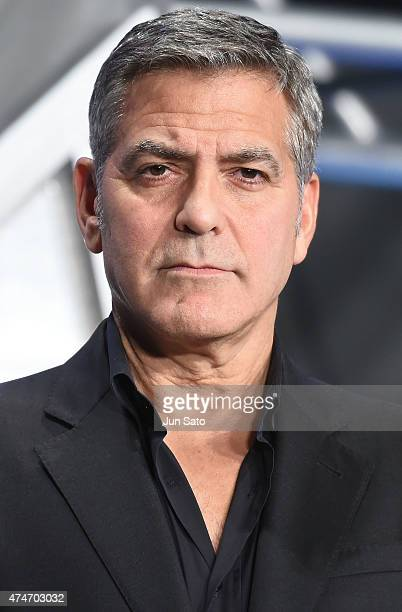 George Clooney attends the Tokyo premiere of Tomorrowland at Roppongi Hills on May 25 2015 in Tokyo Japan
