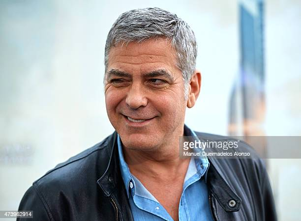 George Clooney attends the 'Tomorrowland' Press Conference at the L'Hemisferic on May 19 2015 in Valencia Spain