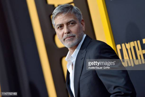 """George Clooney attends the U.S. Premiere of Hulu's """"Catch-22"""" at TCL Chinese Theatre on May 07, 2019 in Hollywood, California."""
