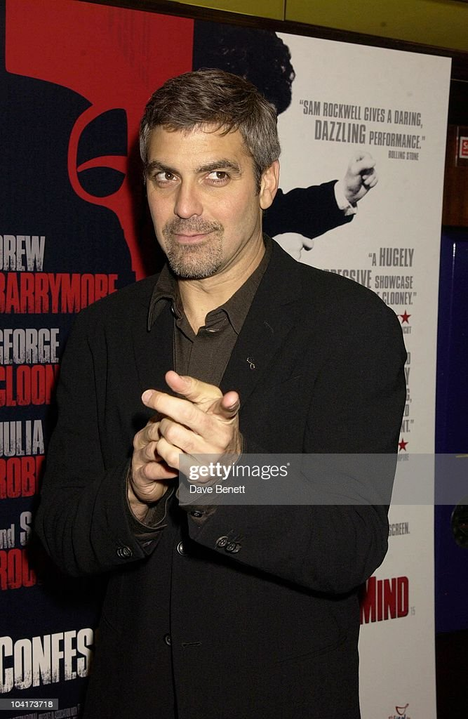 George Clooney, Confessions Of A Dangerous Mind The Movie That Marks The Directorial Debut.premiered In London Last Night.and The Party Was At Elyceum At The Cafe Royal