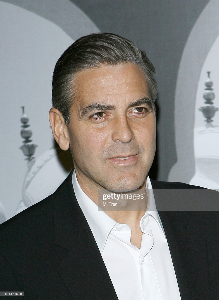 George Clooney during Giorgio Armani Celebrates 2007 Oscars with Exclusive Prive Show at Green Acres Estates in Beverly Hills, California, United States.