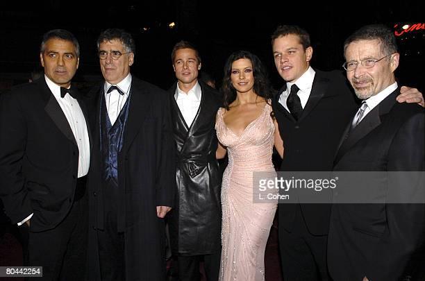 George Clooney Elliott Gould Brad Pitt Catherine ZetaJones Matt Damon and Barry Meyer