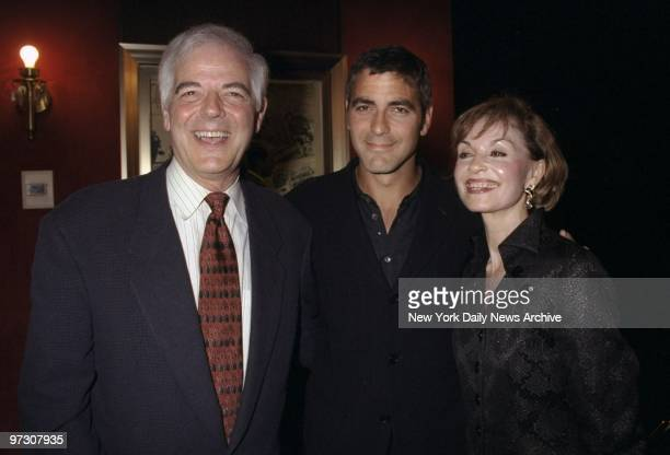 George Clooney is joined by his parents Nicholas and Nina for the premiere of his movie The Peacemaker at the Ziegfeld Theater