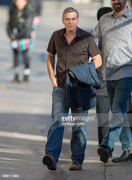George Clooney is seen at 'Jimmy Kimmel Live' on February 02 2016 in Los Angeles California