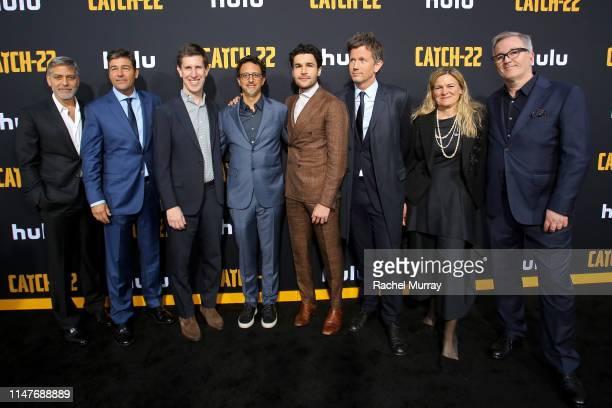 George Clooney Kyle Chandler Head of Content for Hulu Craig Erwich Grant Heslov Christopher Abbott Richard Brown Ellen Kuras and Luke Davies attend...