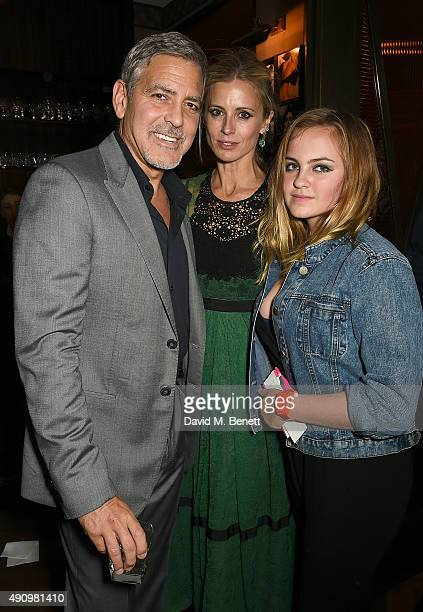 George Clooney Laura Bailey and Charlotte Emma Freud attend the London launch of Casamigos Tequila and Cindy Crawford's book 'Becoming' hosted by...